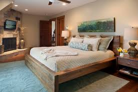 eco friendly bedroom interior design with asian bamboo king bed