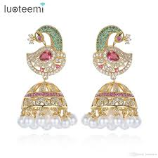 jhumka earrings online antique indian ethnic jhumka jhumki earrings with white created