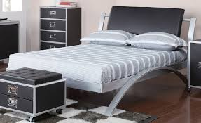 Metal Bedroom Furniture Amazon Com Coaster Home Furnishings Contemporary Full Bed Silver