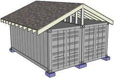 Garage And Shop Plans Simple Portable And Economical Shipping Container Shop Garage
