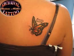 butterfly on back shoulder