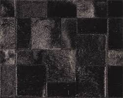 Black Modern Rug Leather Rug By Limited Edition