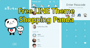tema line rilakkuma android free list line theme shopping panda for android ios fsticker