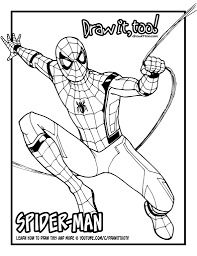 draw spider man spider man homecoming drawing tutorial