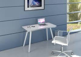 bureau verre et metal bureau design en métal alu verre blanc albury soldes bureau promos