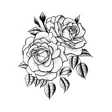 twin rose temporary tattoo tattify