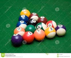 how to set up a pool table pool balls set for break stock photo image of ball 10740068