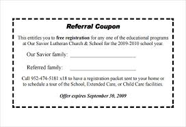 18 referral coupon templates u2013 free sample example format
