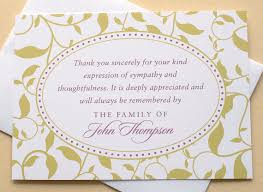 sympathy thank you notes sympathy thank you card personalised