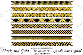 black and gold ribbon gold and black ribbon borders objects creative market