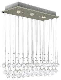 Broadway Linear Crystal Chandelier Modern Crystal Ball Chandeliers Houzz