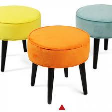 round orange velvet stool trending orange pinterest stools
