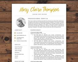 Resume With Results Creative Resume Etsy