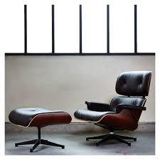 Eames Leather Lounge Chair Classic Eames Lounge Chair U0026 Ottoman Black Leather U0026 Santos