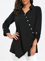 black button blouse blouses for cheap blouse sale rosegal com