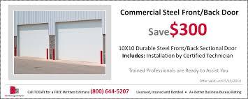 Overhead Door Coupon by Commercial Garage Door Prices Installation Cost Tgs Garages