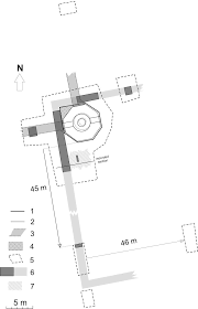 Ground Plan by Arbīl The čoli Minaret Groundplan With Structures Unearthed In