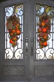 Halloween Wreath Ideas Front Door Best 25 Double Door Wreaths Ideas On Pinterest Entry Doors With