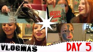 vlogmas day 5 2016 funny christmas dinner disaster eating out