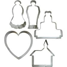 wedding cookie cutters wedding cookie cutter tin set