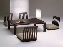 high rise kitchen table modern japanese style dining room design ideas with white table also