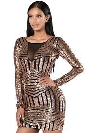 club dresses black gold backless sleeve sequin club dress mb22867 2