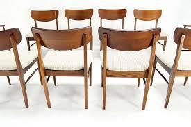 Modern Walnut Dining Chairs Of Ten Walnut Dining Chairs Mid Century Modern At 1stdibs
