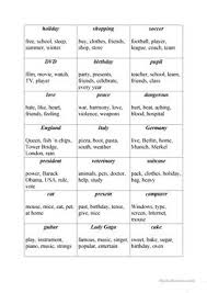 16 free esl taboo game worksheets