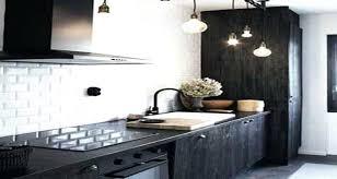 credence cuisine metro carrelage metro noir cuisine la cuisine la credence cuisine
