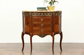 half oval console table sold rosewood demilune half oval vintage french hall console table