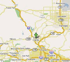 santa california map santa clarita california map