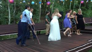 his and wedding crutches what crutches joe is determined to at his wedding