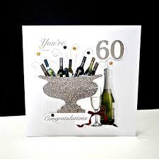 60 Birthday Cards Celebration Bottles 60th Birthday Card Decorque Cards