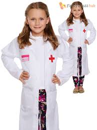 girls doctor coat childs drs fancy dress costume kids uniform book