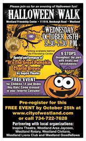 city park halloween halloween walk events in westland city of westland mi