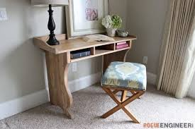 Desk Plans Diy Diy Sicily Writing Desk Free Plans Pottery Barn Inspired