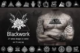 blackwork 21 vector tattoo designs illustrations creative market
