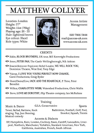 Sample Acting Resumes by Actors Resume Template No Experience Acting Resume Pdf Download