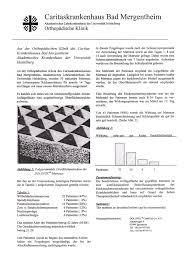 Caritas Krankenhaus Bad Mergentheim Veröffentlichung Allgemeinmedizin 1987 Brw Schlafsysteme