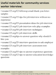 Community Service Worker Resume Top 8 Community Services Worker Resume Samples