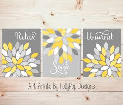 marvelous design gray and yellow wall decor chic shop gray and