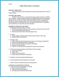 resume templates for waitress bartenders bash videos infantiles cool flawless cake decorator resume to guide you to your best job