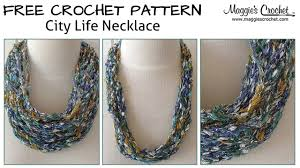 city life necklace free crochet pattern right handed youtube