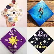 custom graduation caps disney graduation cap ideas popsugar smart living