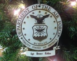 air force ornament etsy