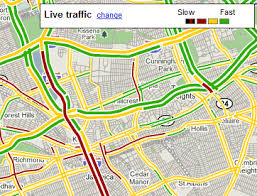traffic map maps mobile users send traffic data