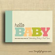baby 1st year book hello baby celebrating baby s year simply paperie