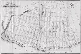 williamsburg map vintage map of williamsburg 1827 drawing by
