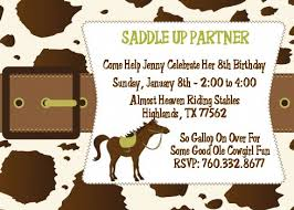 horse birthday party invitations theruntime com