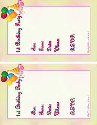 Free Invitation Birthday Cards Party Invitation Templates